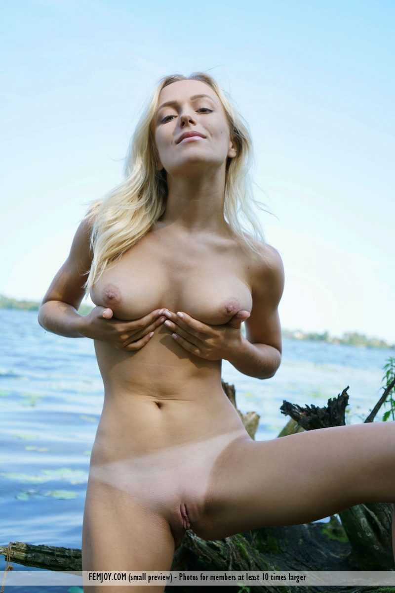 Aislin by the lake aislin blonde boobs lake Pretty Ladies