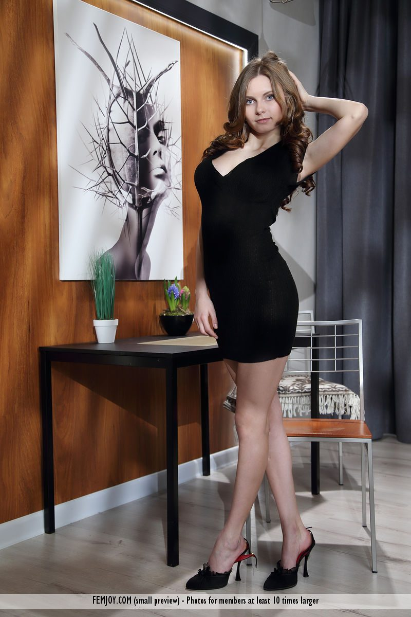 Yuki in little black dress