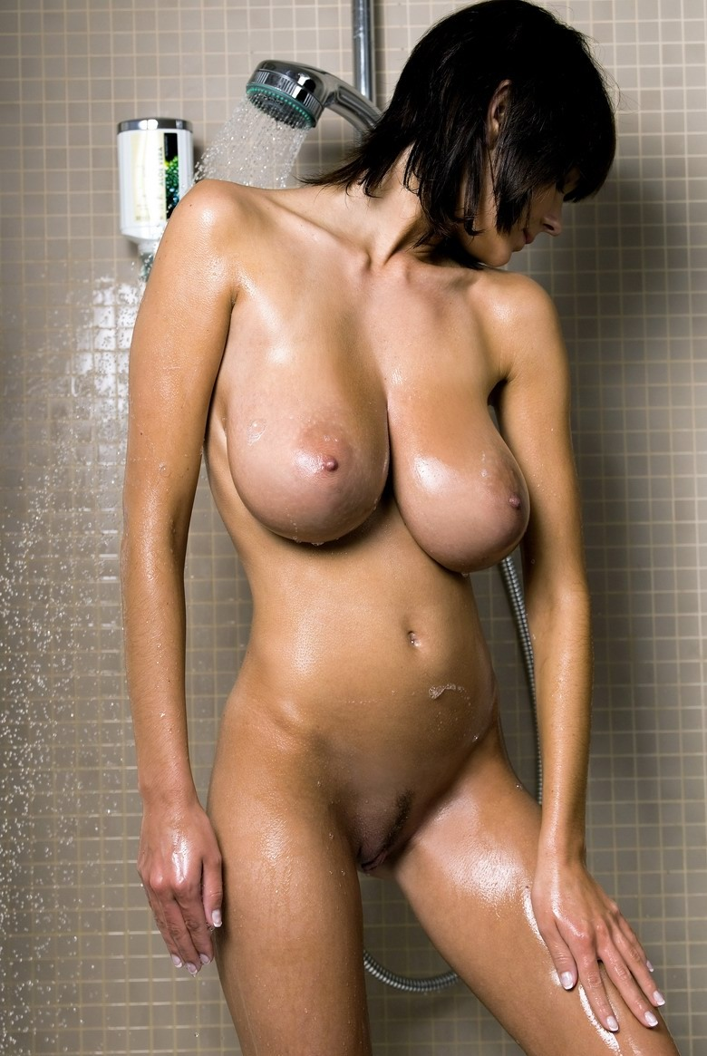 Gabrielle taking a shower