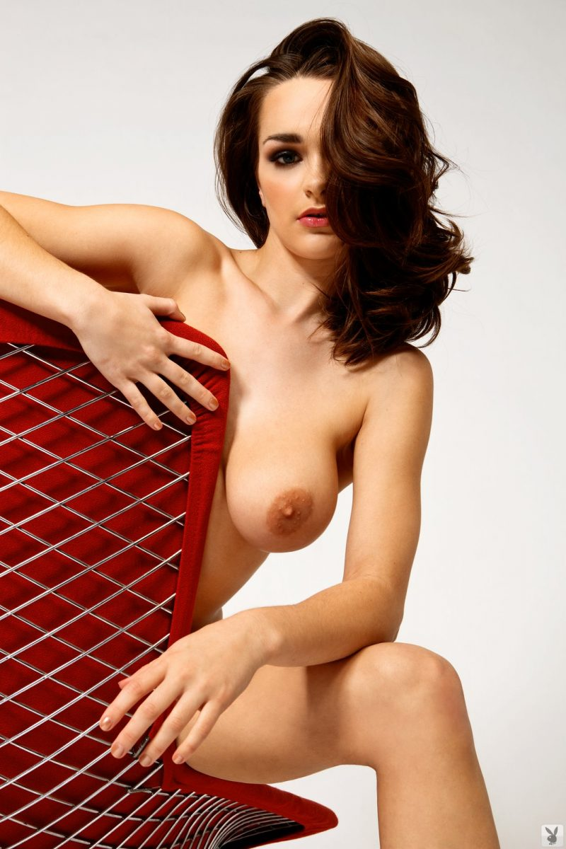 Hailee Rain – Red modern chair hailee rain high heels kristen pyles playboy Super Chicks