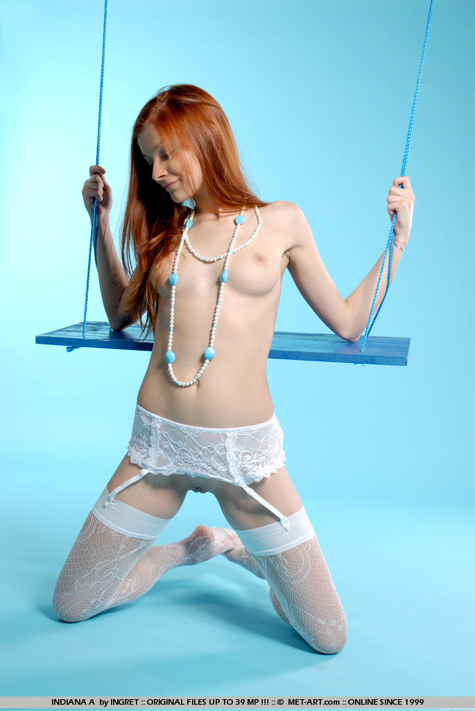 Indiana on the swing fetish indiana redhead stockings swing