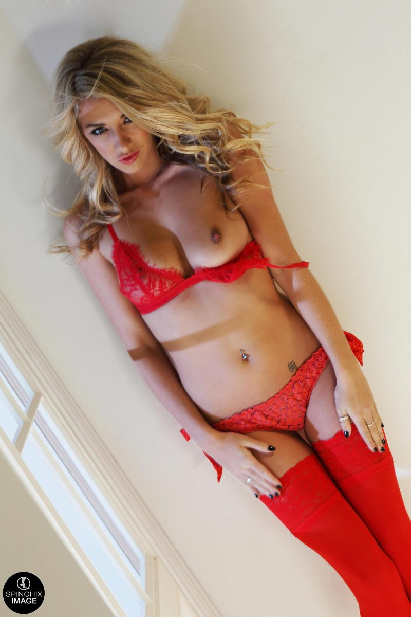 Bexie Williams in red stockings bexie williams blonde fetish stockings