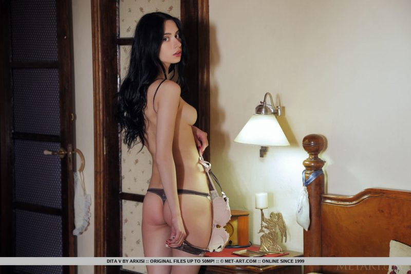 Dita in bedroom bedroom brunette dita v Pretty Ladies