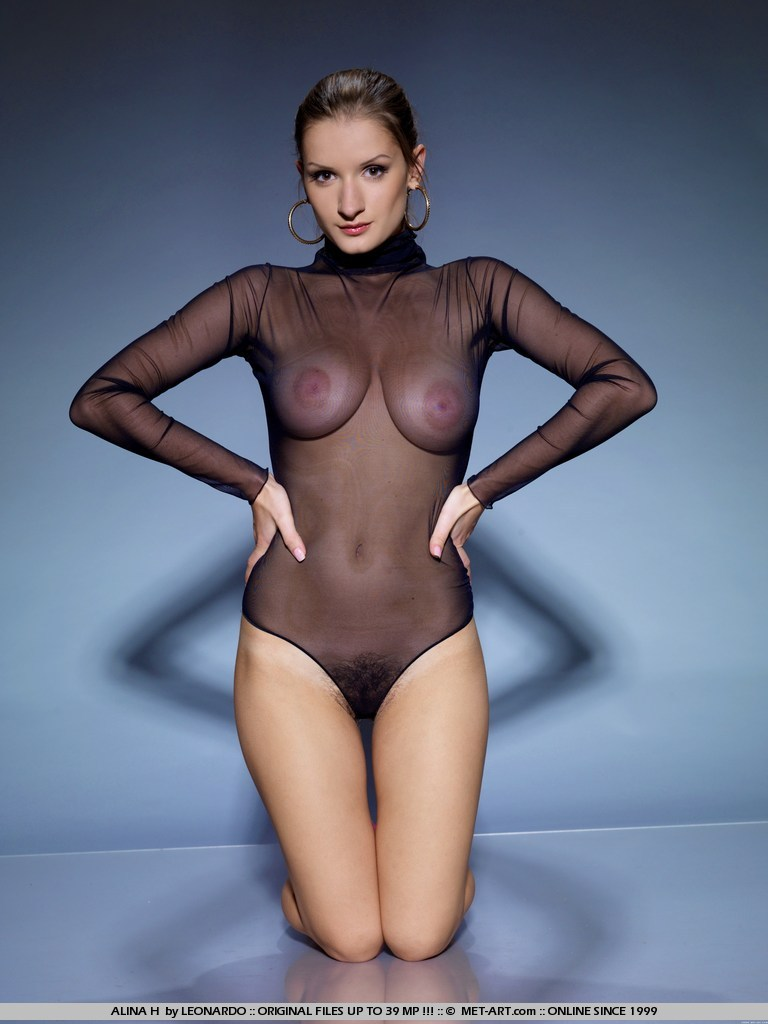 Alina in transparent bodysuit