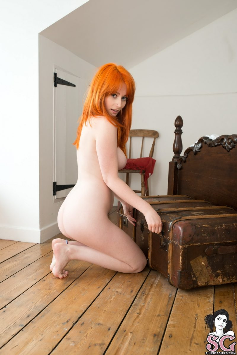 Jessica Lou – Flaming red hair bedroom big boobs boobs jessica lou redhead suicide girls