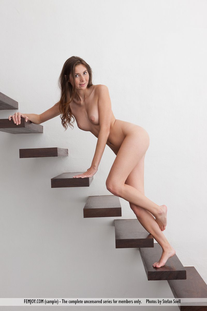 Kattie Gold nude on stairs freckles kattie gold stairs Young girls