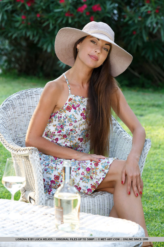 Lorena in summer dress