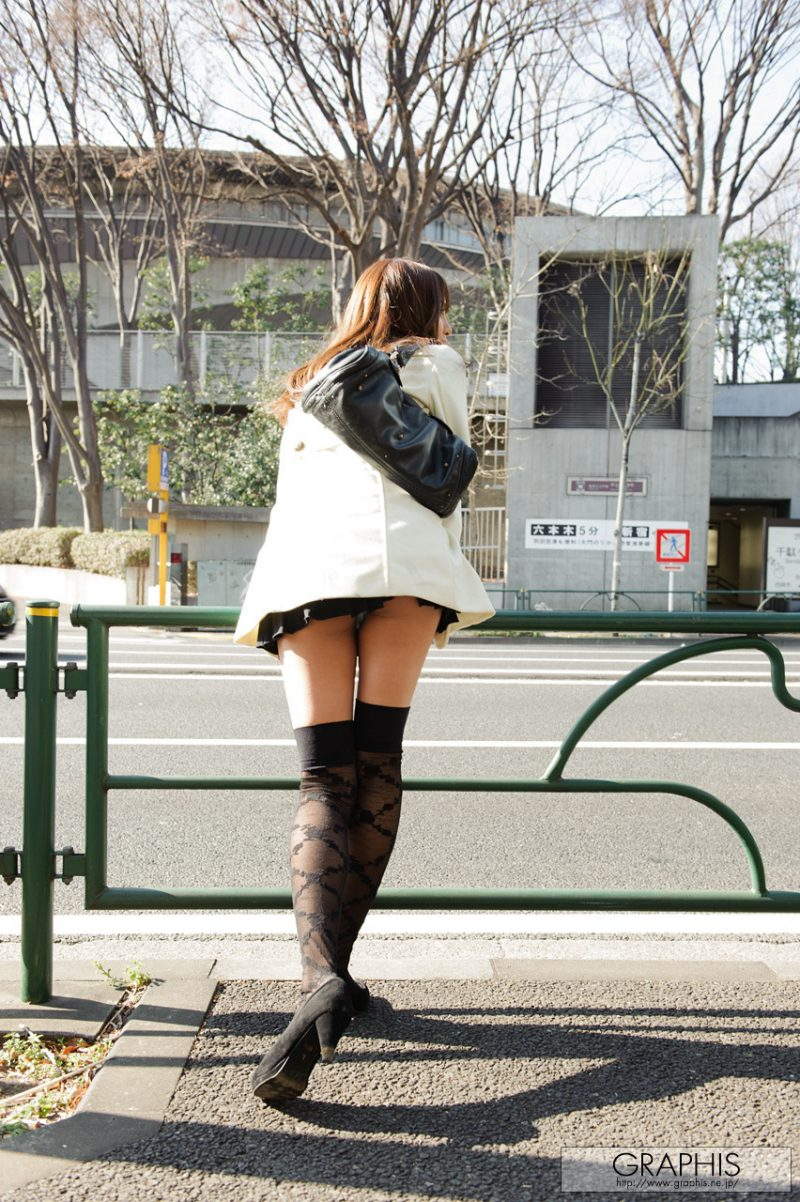 Coco Aiba – Black knee stockings