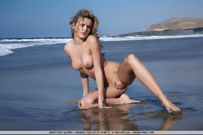 Irene Richie by the ocean shore