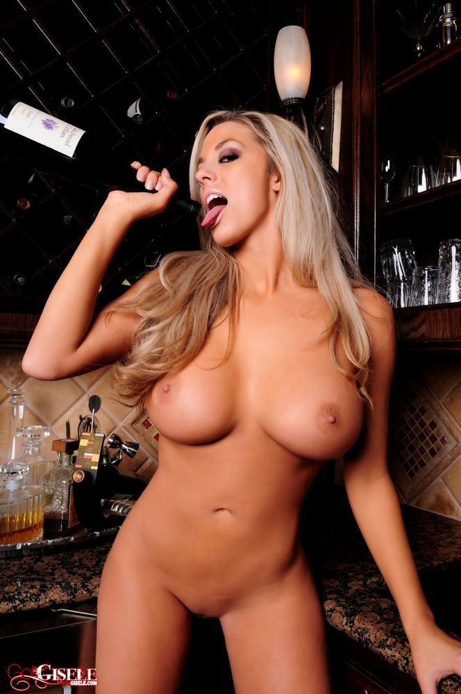 Gisele tasting the wine blonde boobs got gisele high heels tits wine