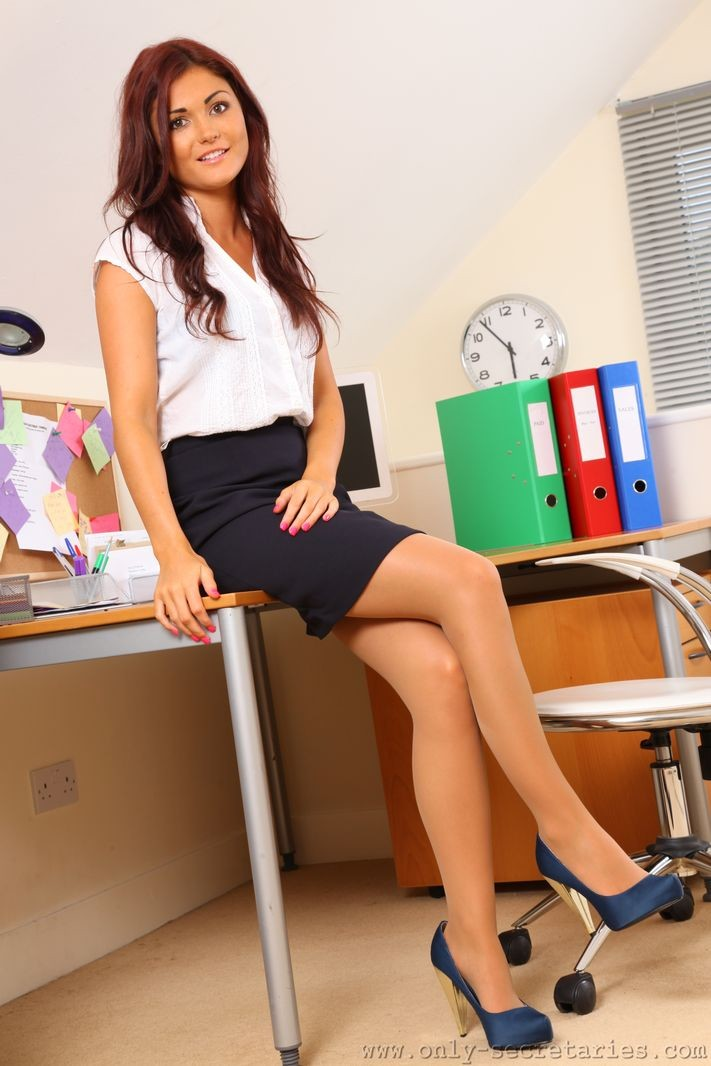 India Reynolds in the office