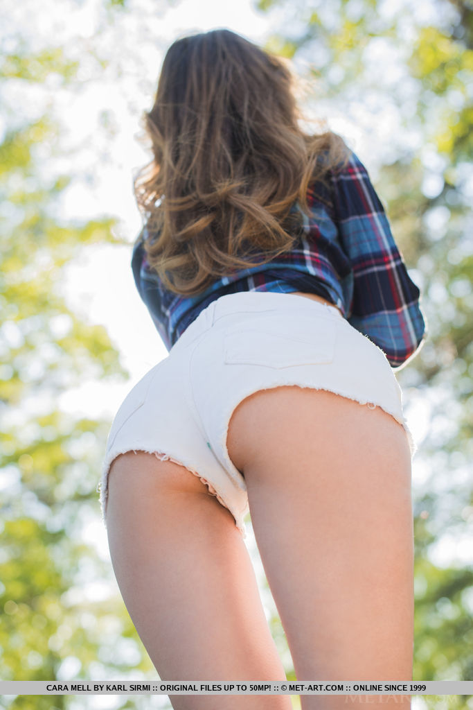 Cara Mell in the woods cara mell fit girls Pretty Ladies skinny woods