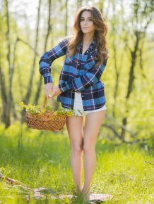 Cara Mell in the woods