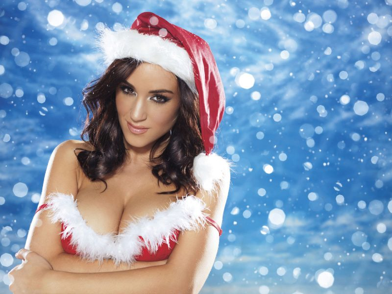 Nuts Xmas 2012 Special – Lucy, India, Rosie & Holly boobs Dress Up Holly Peers India Reynolds Lucy Pinder Nuts Magazine Rosie Jones santa xmas