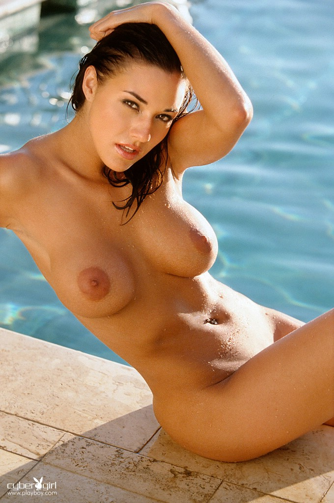 Amy Sue Cooper in the pool Amy Sue Cooper big tits playboy pool redhead
