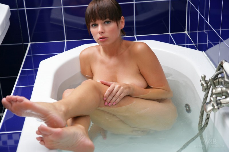 Samantha Star in bathroom
