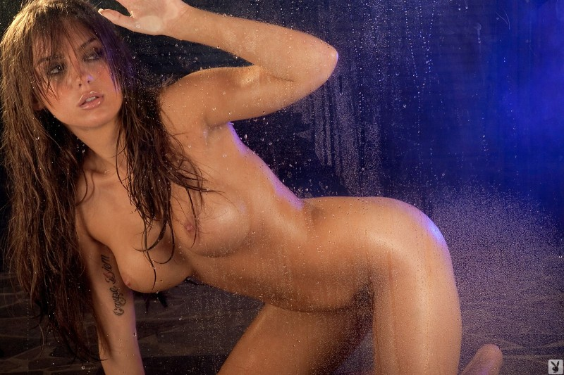 Sydney Barlette – Wet body big tits brunette playboy sydney barlette wet