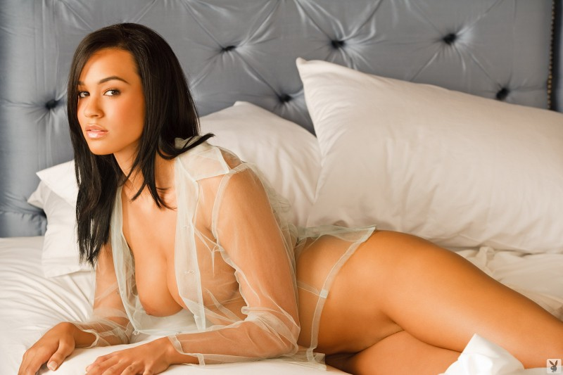Andrea Leilani in bedroom Andrea Leilani bedroom brunette playboy