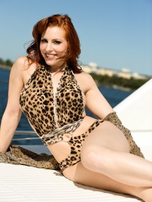 Tali Demar on the boat