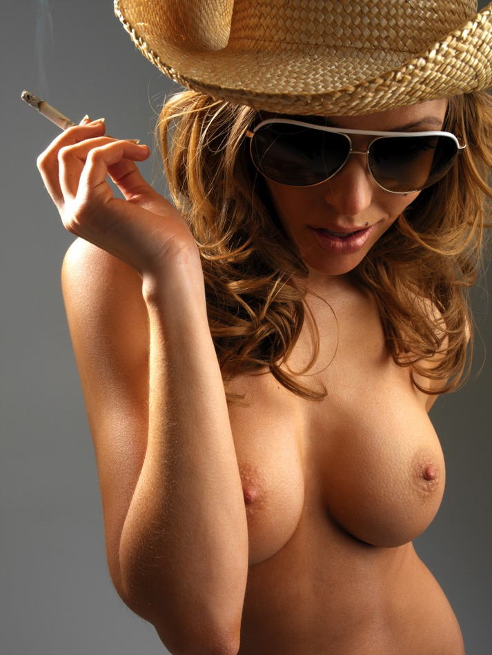 Triana Iglesias in cowboy hat big tits blonde cowboy Triana Iglesias