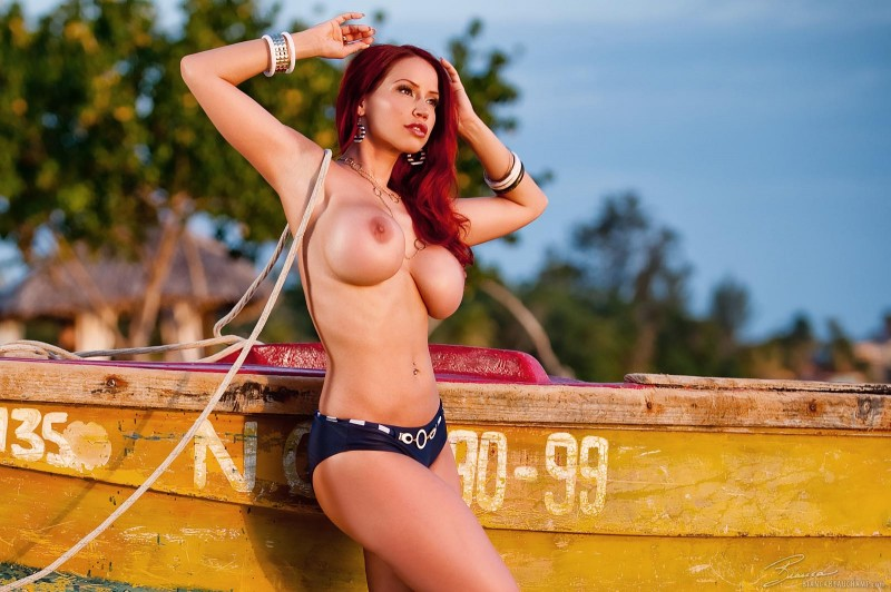 Bianca Beauchamp on the beach beach Bianca Beauchamp big tits bikini redhead