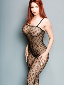 Bianca Beauchamp in mesh body