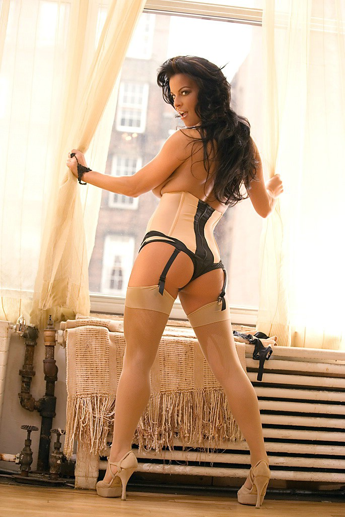 Nancy Erminia in sexy lingerie brunette lingerie Nancy Erminia stockings tattoo