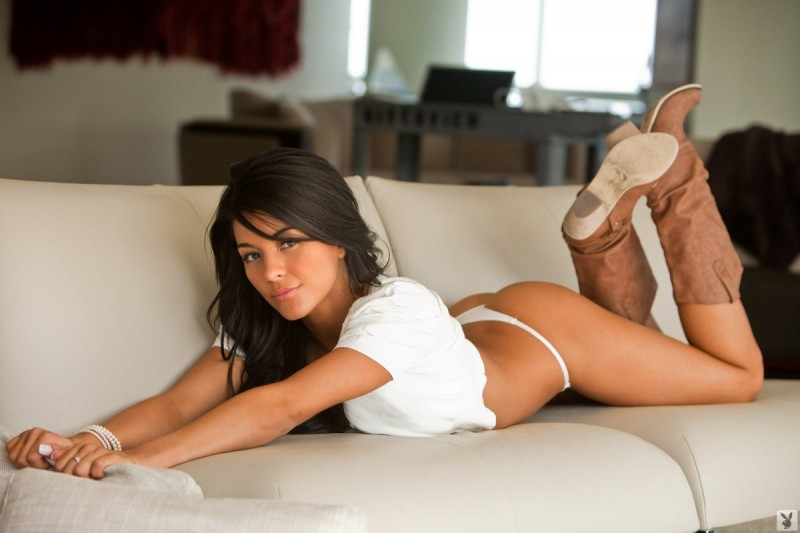 Angie Marie in white
