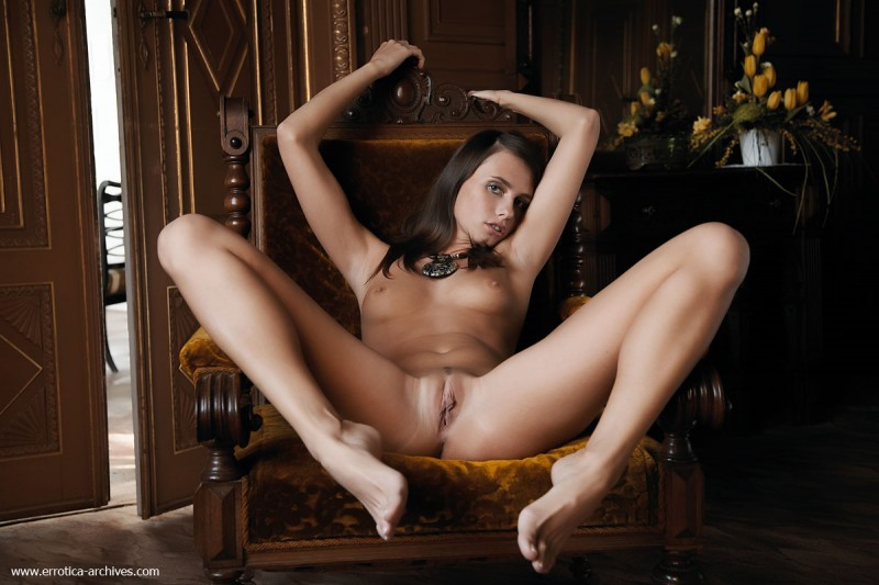 Veronika Vesela - old armchair brunette small tits Veronika Vesela