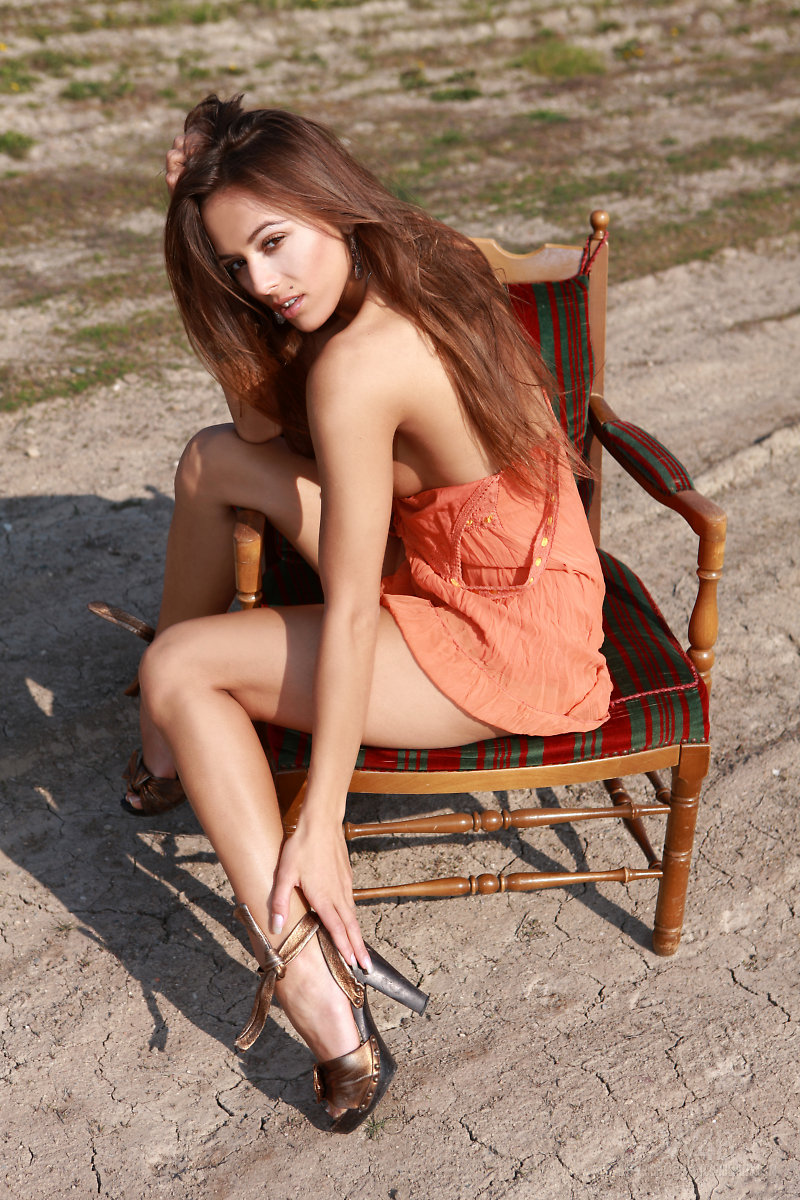 Dominika on a chair