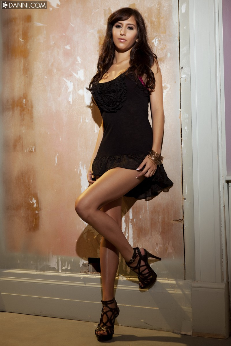April O'Neal in black dress