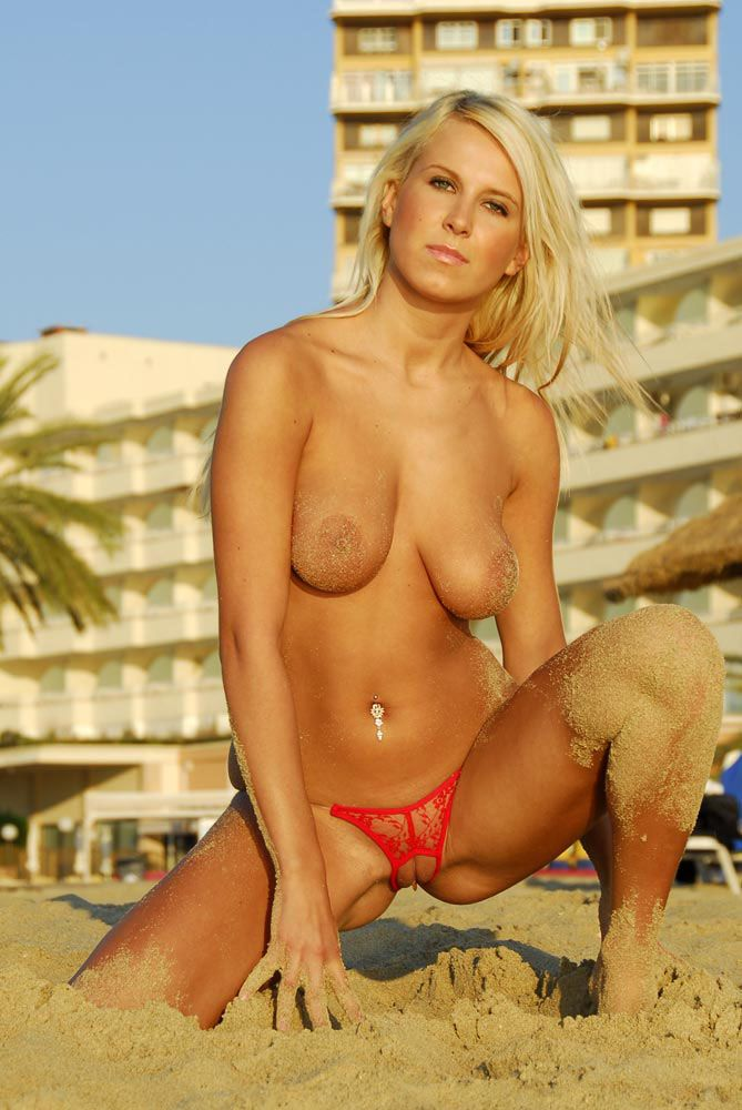 Blonde on the beach beach bikini blonde