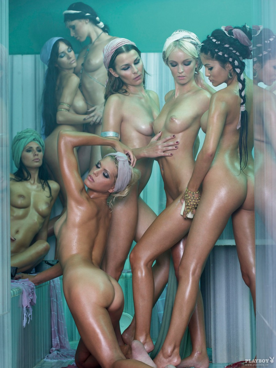 Playboy Harem 2009 blodne brunette compilation playboy