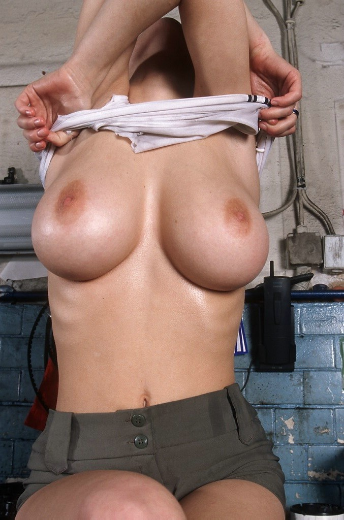 Daisy Van Heyden in garage big tits blonde Daisy Van Heyden
